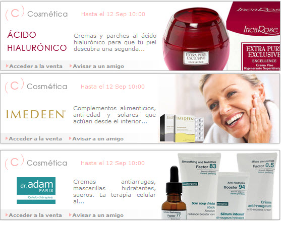 outlet cosmeticos