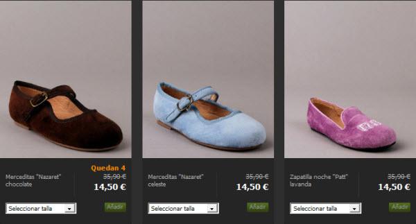 outlet zapatos de niña