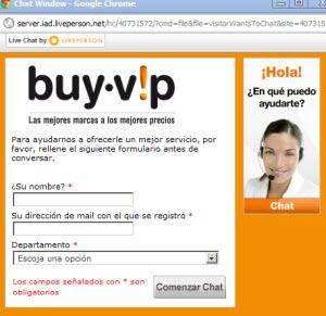 atencion al cliente en Buyvip