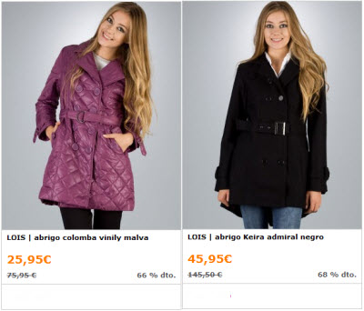 outlet abrigos de mujer