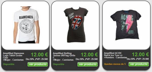 outlet camisetas de grupos de musica