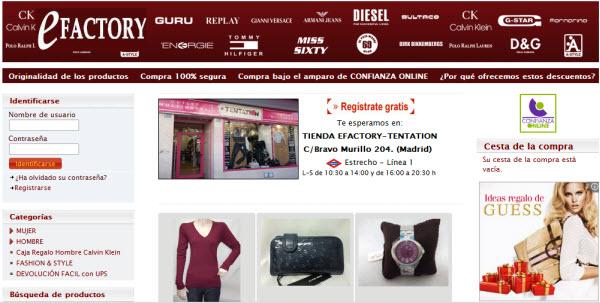 outlet online de ropa