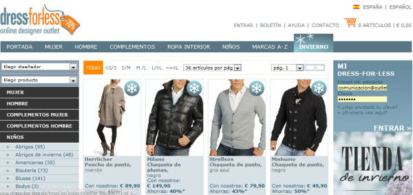 rebajas dress-for-less