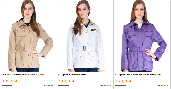 chaquetas barbour mujer