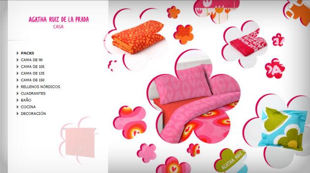 outlet agatha ruiz de la prada ropa de hogar al 70. Black Bedroom Furniture Sets. Home Design Ideas