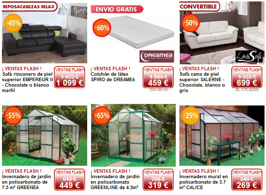 ventas flash muebles