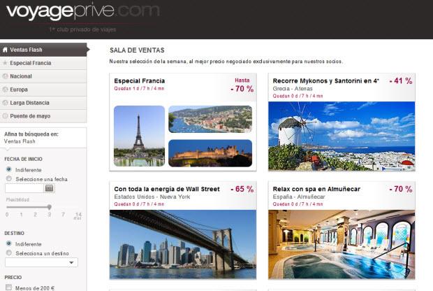 outlet online viajes