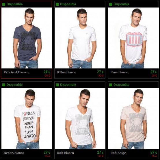 camisetas guess hombre