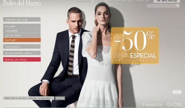 paquete de moda y atractivo acogedor fresco nuevo estilo de 2019 Outlet Pedro del Hierro: 50% de descuento en ropa de temporada