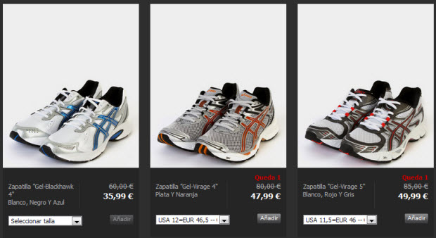 privalia zapatillas asics