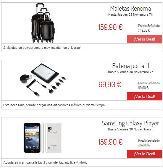 ventas privadas de electronica