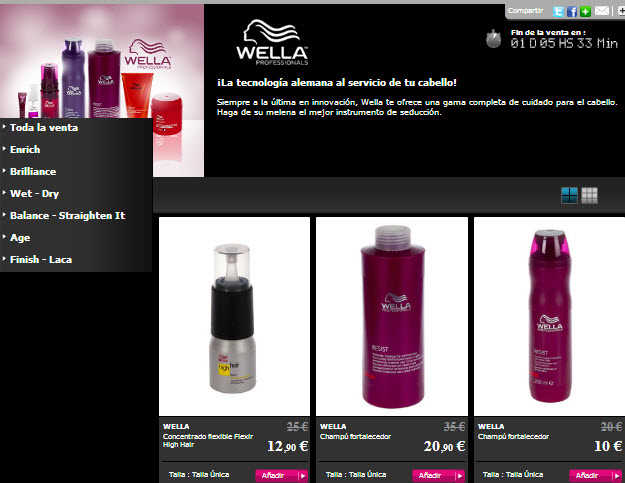 outlet wella