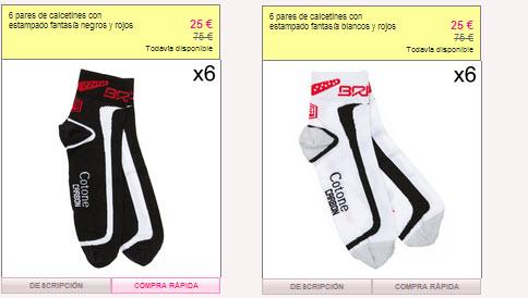 calcetines para ciclistas