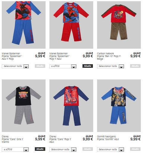 pijamas para niños outlet