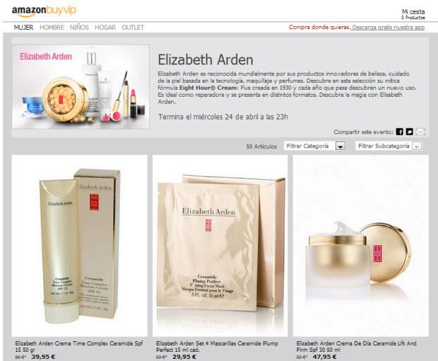 Outlet Elisabeth Arden con dctos hasta el 60% en AmazonBuyvip