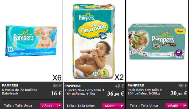 pañales outlet pampers