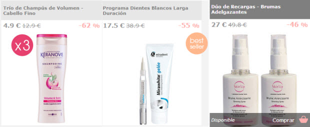 productos cosmetica outlet