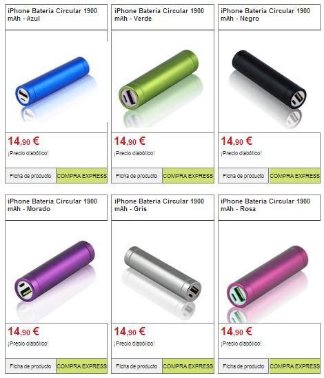 baterias externas Iphone