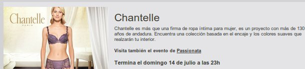 outlet Chantelle