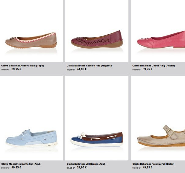 outlet zapatos Clarks