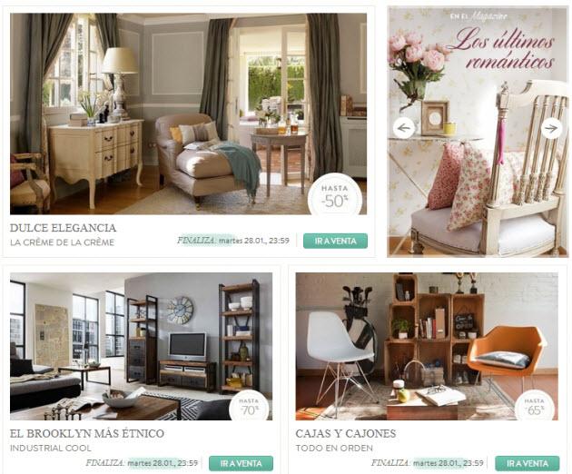 ventas privadas de muebles