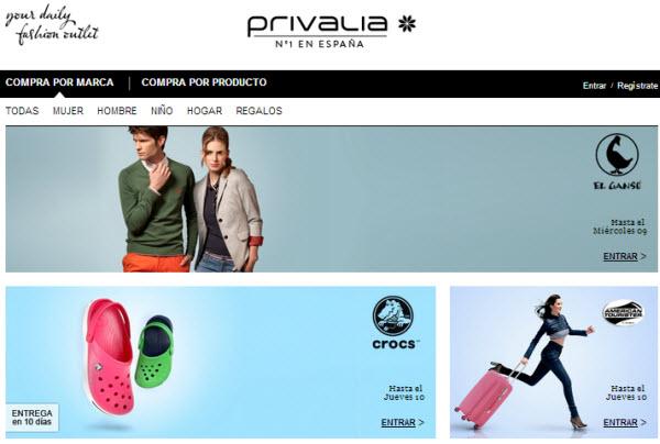privalia ventas privadas