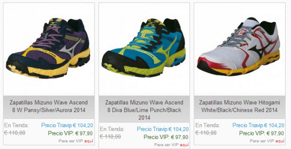 triavip zapatillas de running