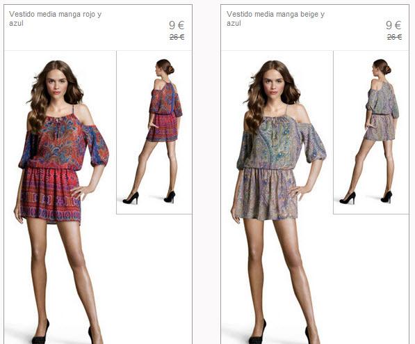 vestidos estampados stradivarius
