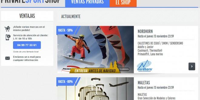 Private Sport Shop España: opiniones de sus ventas privadas