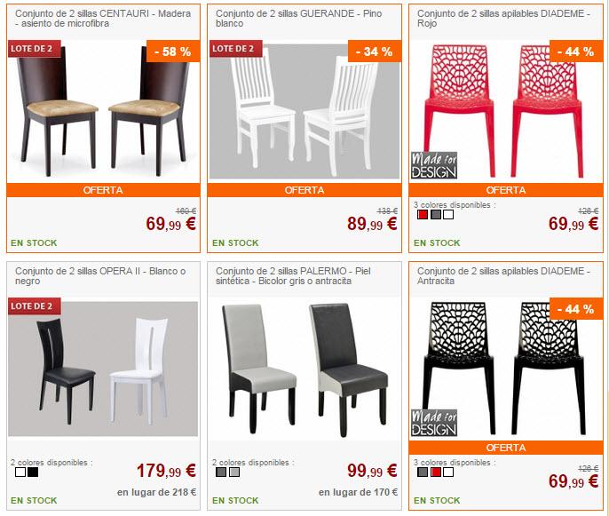 venta unica sillas