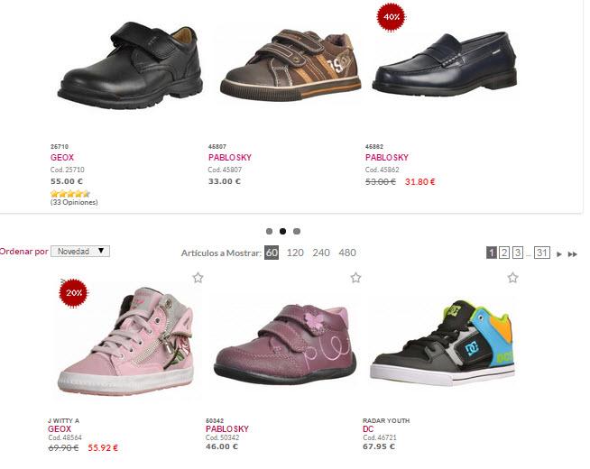 Zacaris zapatos de niño