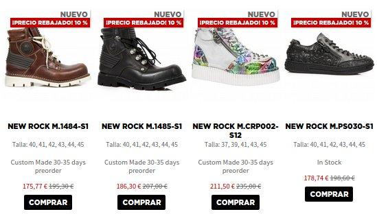 New  Rock zapatos