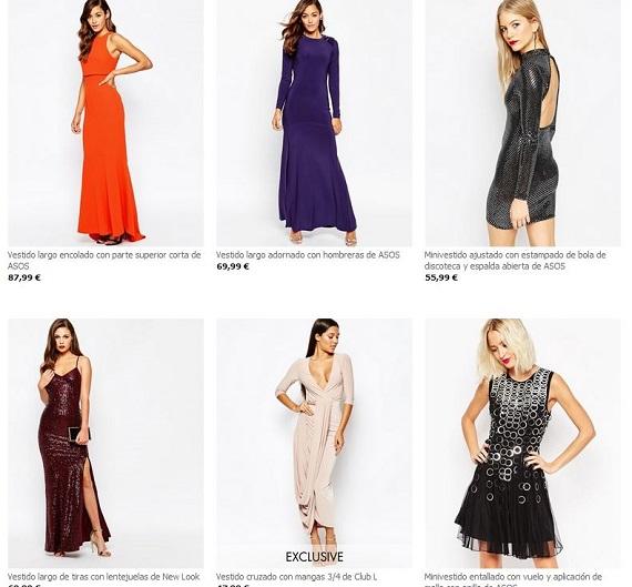 Asos vestidos