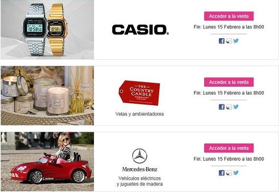 ventas privadas 2016 marcas