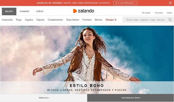 6d06cc121 Rebajas verano Zalando 2016 online  outlet de mujer y hombre