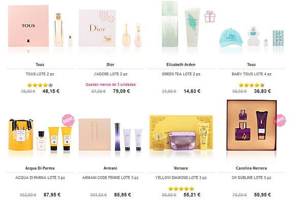 perfumes dia de la madre 2017 en packs