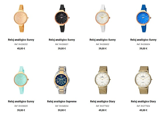 radiant relojes