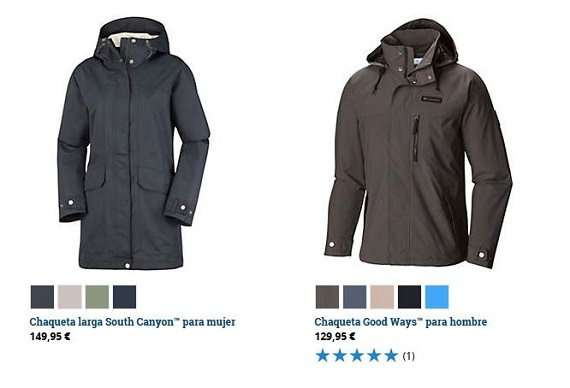 columbia ropa parkas