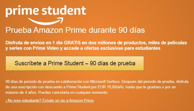 amazon prime student gratis